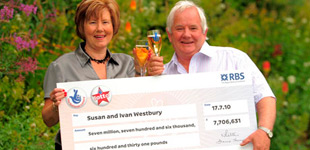 Ivan and Susan Westbury a Lottery Winners lottery online